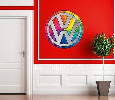Insigne de voiture vw logo Mur Art Autocollant image rétro salon moderne chambre amovible