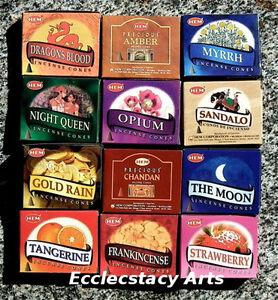 Hem-Incense-Cones-12-Boxes-Assorted-Fragrances-Collection-Set-2-120-Cones