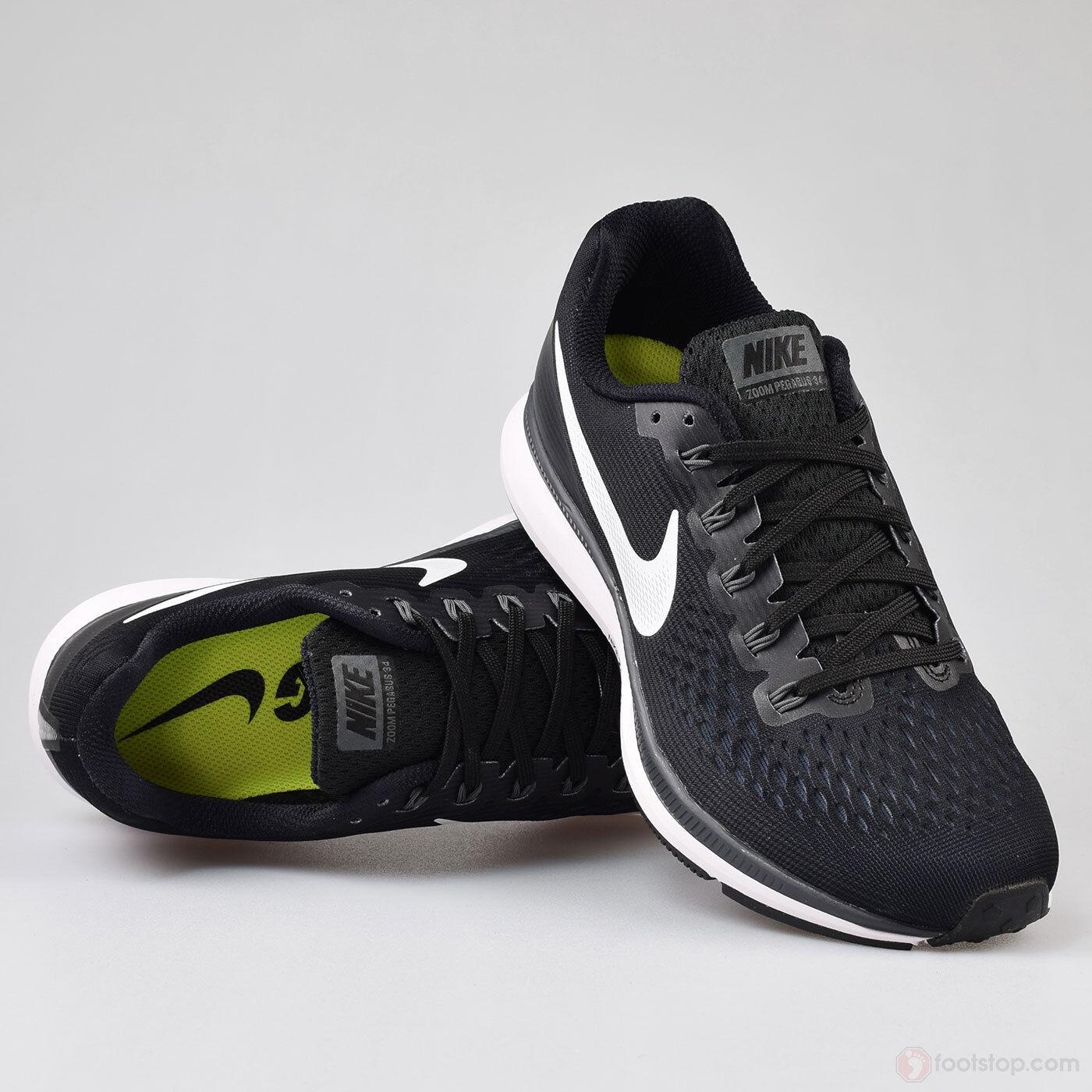 Mens Nike Air Zoom Pegasus 34  Black Dark Grey 880555 001 Size 15
