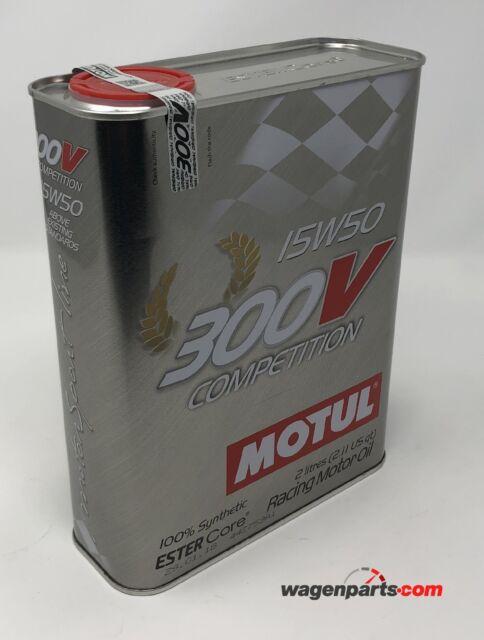 Aceite Motor MOTUL 300V Competition 15W-50, 2 Litros  (especial Racing carreras)