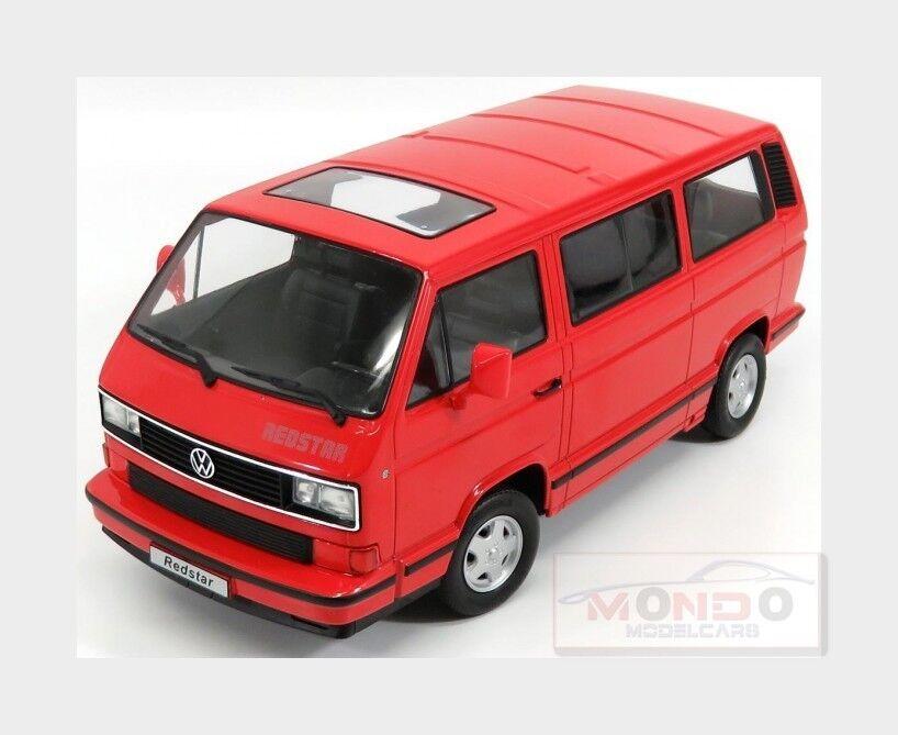 Volkswagen T3 Multivan Minibus rouge Star 1993 rouge KK SCALE 1 18 KKDC180203