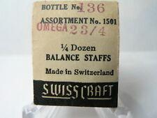 SwissCraft - 2 Balance Staffs for Omega 23/4 Watch - (Pack of 2 Staffs)