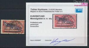Memelgebiet-40I-y-geprueft-gestempelt-1921-Aufdruckausgabe-9039352