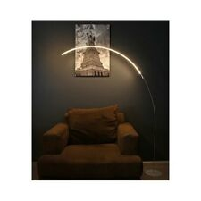 Modern LED Floor Lamp Contemporary Silver Arc Curved Light Minimalist Design New
