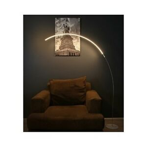 Modern led floor lamp contemporary silver arc curved light image is loading modern led floor lamp contemporary silver arc curved aloadofball Gallery