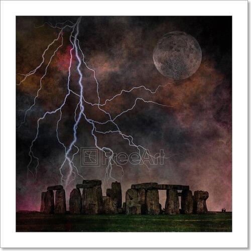 Stormy Stonehenge Art Print Home Decor Wall Art Poster K