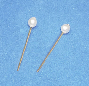 Dreamz-WHITE-PEARL-GP-STUD-EARRINGS-Doll-Jewelry-VINTAGE-REPRO-made-for-Barbie