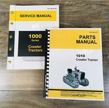 Service Manual Set For John Deere 1010 Crawler Tractor Parts Catalog Shop Books
