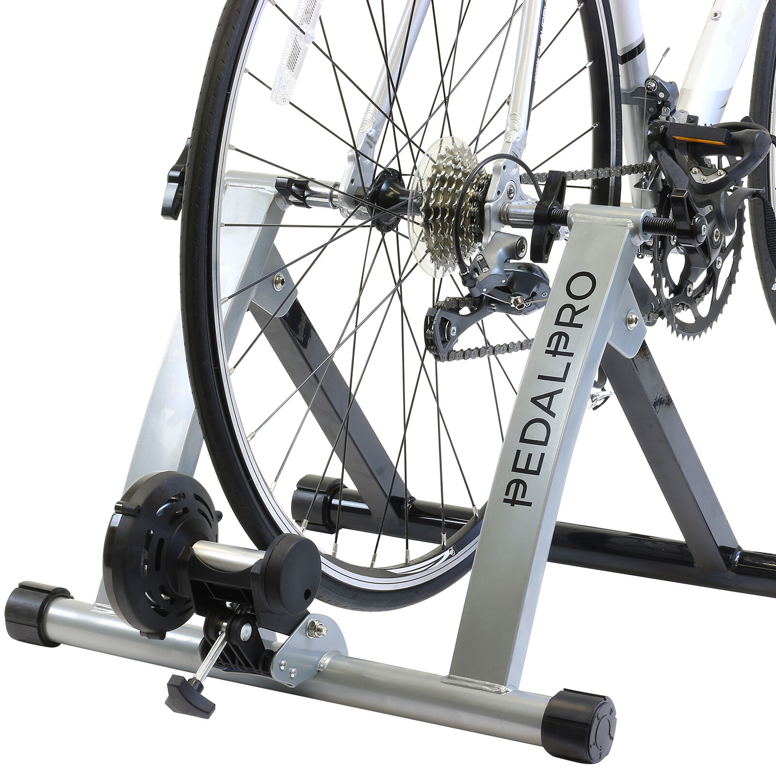 PEDALPRO TURBO TRAINER INDOOR FOLDING EXERCISE BIKE FOR CYCLE BICYCLE TRAINING
