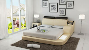 Détails sur Lit Design de Luxe Luxe Lits Cuir Moderne Chambre à Coucher  140/160/180 LB8813