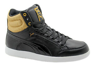 black and gold puma high tops