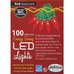 image is loading 12 red 100 bulb italian style led 24