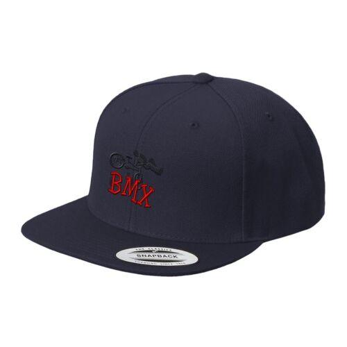 Free Style Bmx Embroidered Flat Visor Snapback Hat