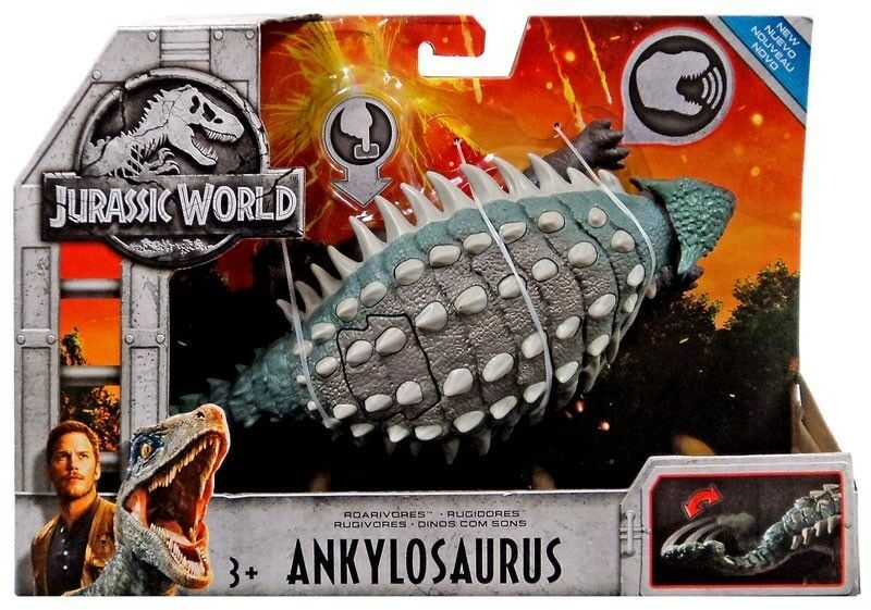Jurassic World 2 ROARIVORES ANKYLOSAURUS FIGURE DINOSAUR SOUND ACTION 2018 FMM25