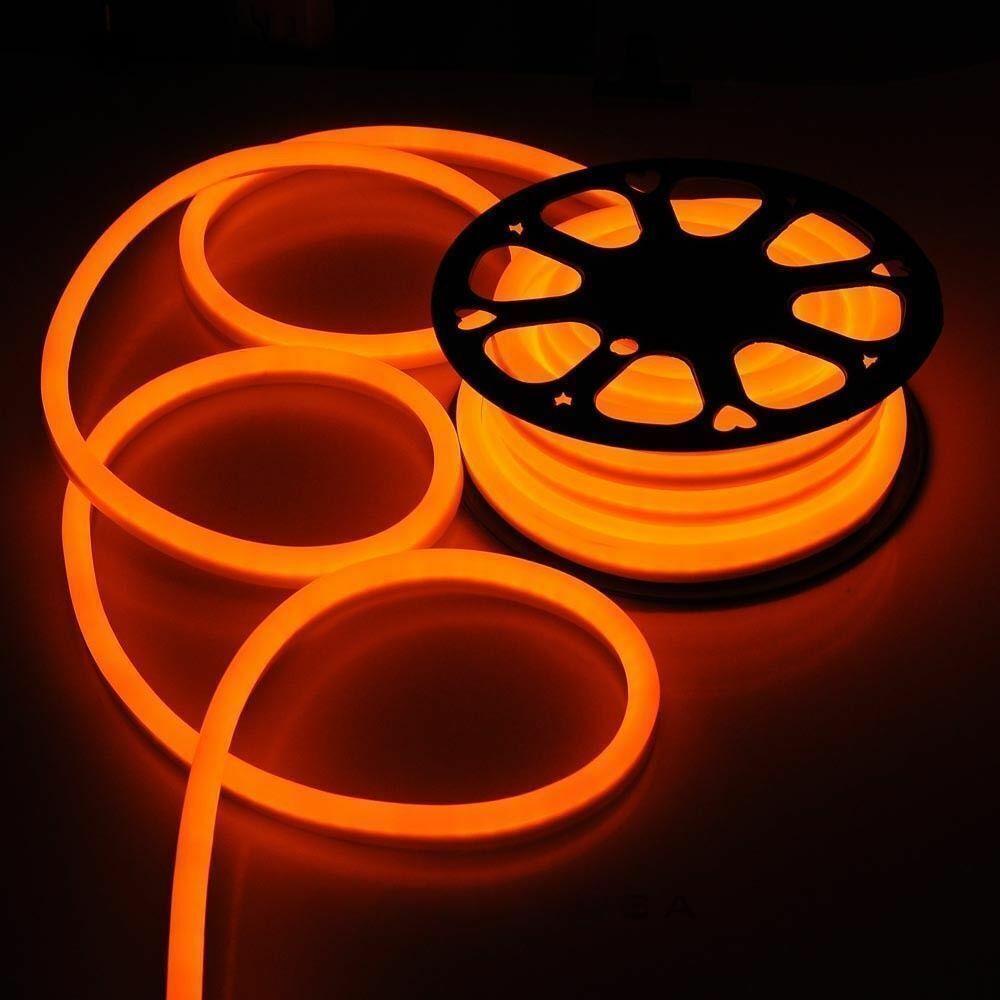 Orange LED Neon Flex Lichtschlauch Party Garten Gebäude Zeichen Outdoor 220V