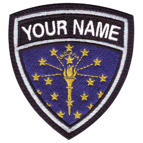 Indiana Custom Crest Embroidered Patch