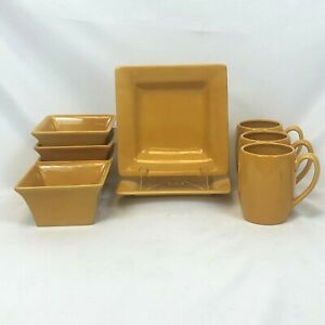 9-PC-LOT-TABLETOPS-ROOSTER-ESPANA-LIFESTYLE-BUTTER-CEREAL-BOWL-MUG-SALAD-PLATE