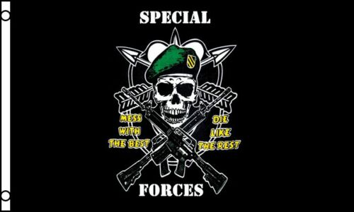"""/""""SPECIAL FORCES/"""" flag 3x5 ft military united states america troops mess best"""