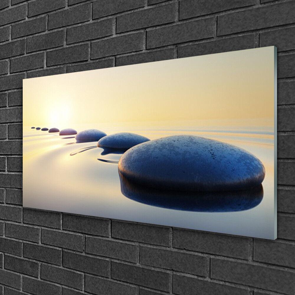 Image sur verre Tableau Impression 100x50 Art Eau Pierres