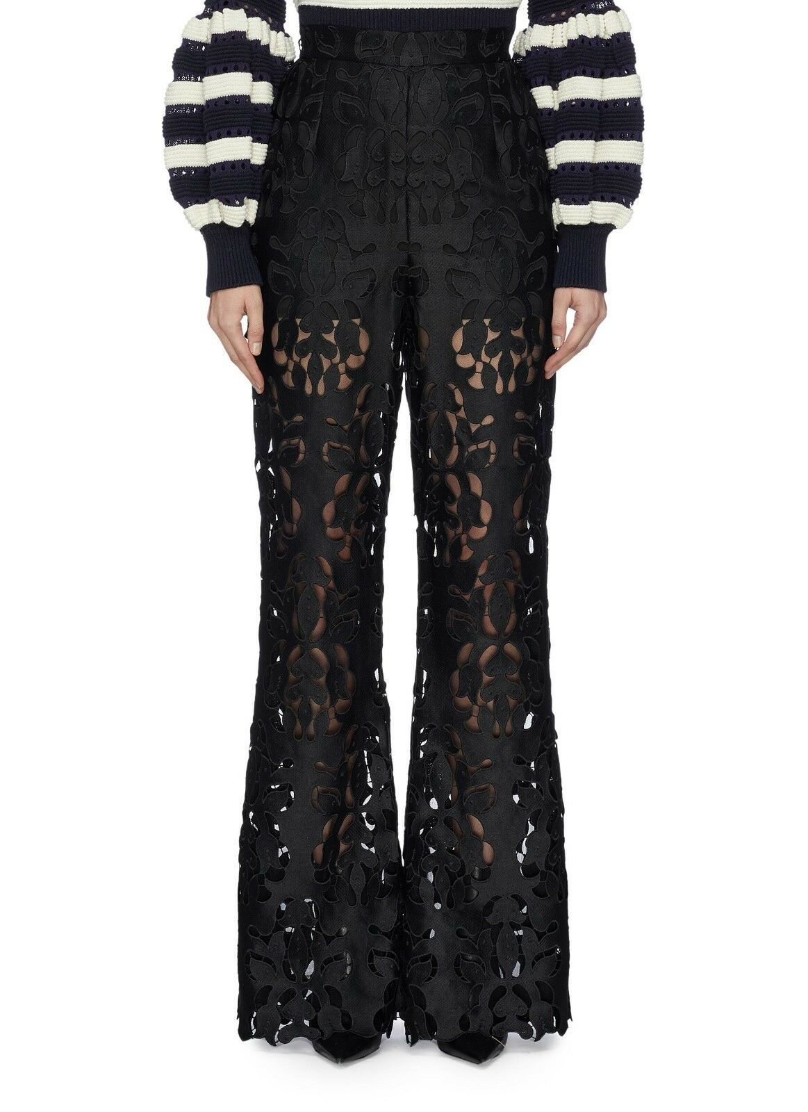 Self-portrait  Guipure lace flared pants