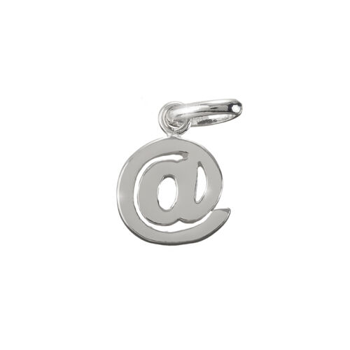 Internet Email @ Sign Charm Pendant Sterling Silver 925 12mm Pack of 1 L60//9