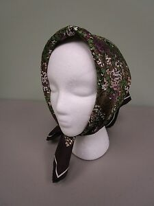 Echo-Head-Scarf-Silk-Blend-Head-Cover-Wrap-Floral-Made-In-Japan-Vintage-Euc