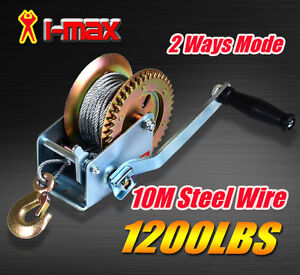 1200LBS-544KGS-2-Ways-Steel-Cable-Hand-Winch-Manual-Car-Boat-Trailer-Camper