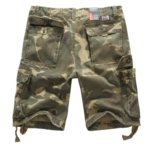 Mens FOX JEANS Elton Casual Army Cargo Work Shorts SIZE 32-44