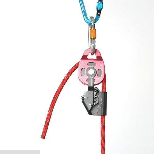 Heavy Duty Aluminum Tackle Pulley Lifter 880lb Capacity Rope Hoist