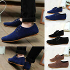 Men Driving Moccasins Suede England Sneaker Loafers Lace Up Fashion Casual Shoes