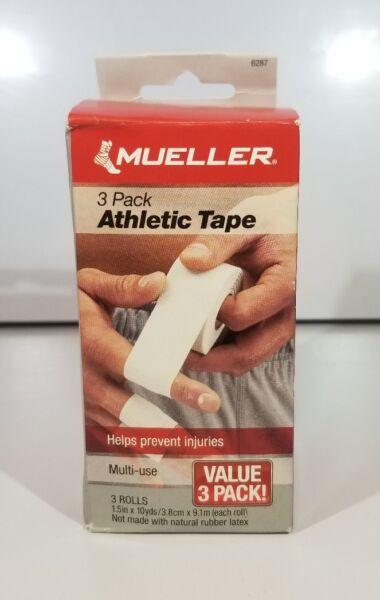 Mueller White Athletic Tape 1.5' X 10yds 3 Pack Multi-Use