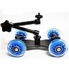 Rail Rolling Track Slider Skater Table Dolly Car For DSLR Camera Camcorder