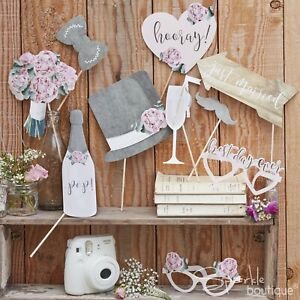 RUSTIC-COUNTRY-VINTAGE-WEDDING-PHOTO-BOOTH-PROPS-Selfie-Kit-Signs-Glasses