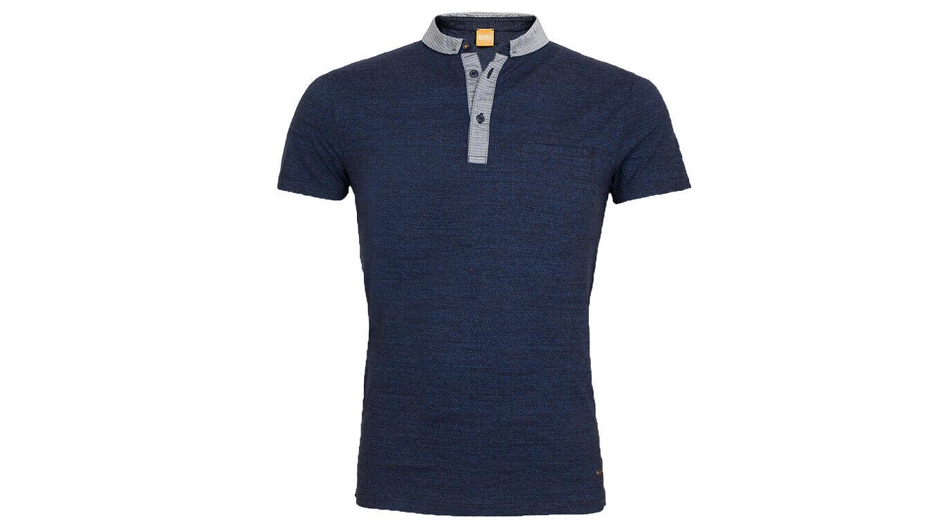 Hugo Boss Poloshirt Patcherman 1 blau L Baumwolle Regular Fit Orange Label Neu