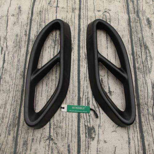 2x Matt Black Exhaust Pipe Tips Cover For Mercedes ABCE Class CLA GLC GLE GLS