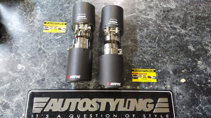 AUTOSTYLING EAST LONDON - AKRAPOVIC BOLT ON TAIL PIPES IN STOCK
