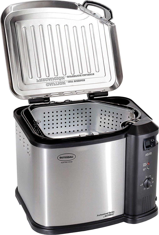 Butterball électrique XL En Acier Inoxydable intérieure de la Turquie friteuse panier vapeur