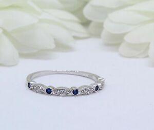 2ct-Round-Cut-Blue-Sapphire-Diamond-Stackable-Wedding-Band-14k-White-Gold-Finish