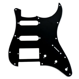 Guitar-Pickguard-Scratch-Plate-For-Fender-Strat-Parts-HSS-3-Ply-11-Hole-Black