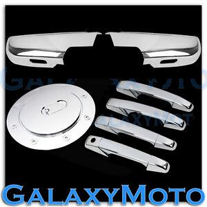 07-14-GMC-Yukon-XL-Chrome-Lower-Half-Mirror-light-4-Door-Handle-no-KH-GAS-Cover