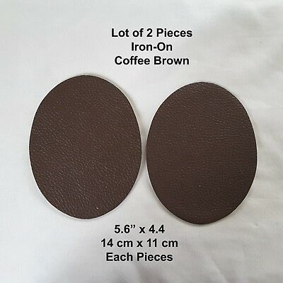 Coffee Brown Faux Leather Elbow Iron On Patch Diy Clothing