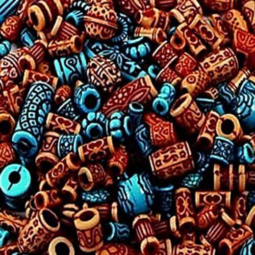 Craft exótico granos 130 aprox de plástico para la fabricación de joyas Artesanías Surtidos