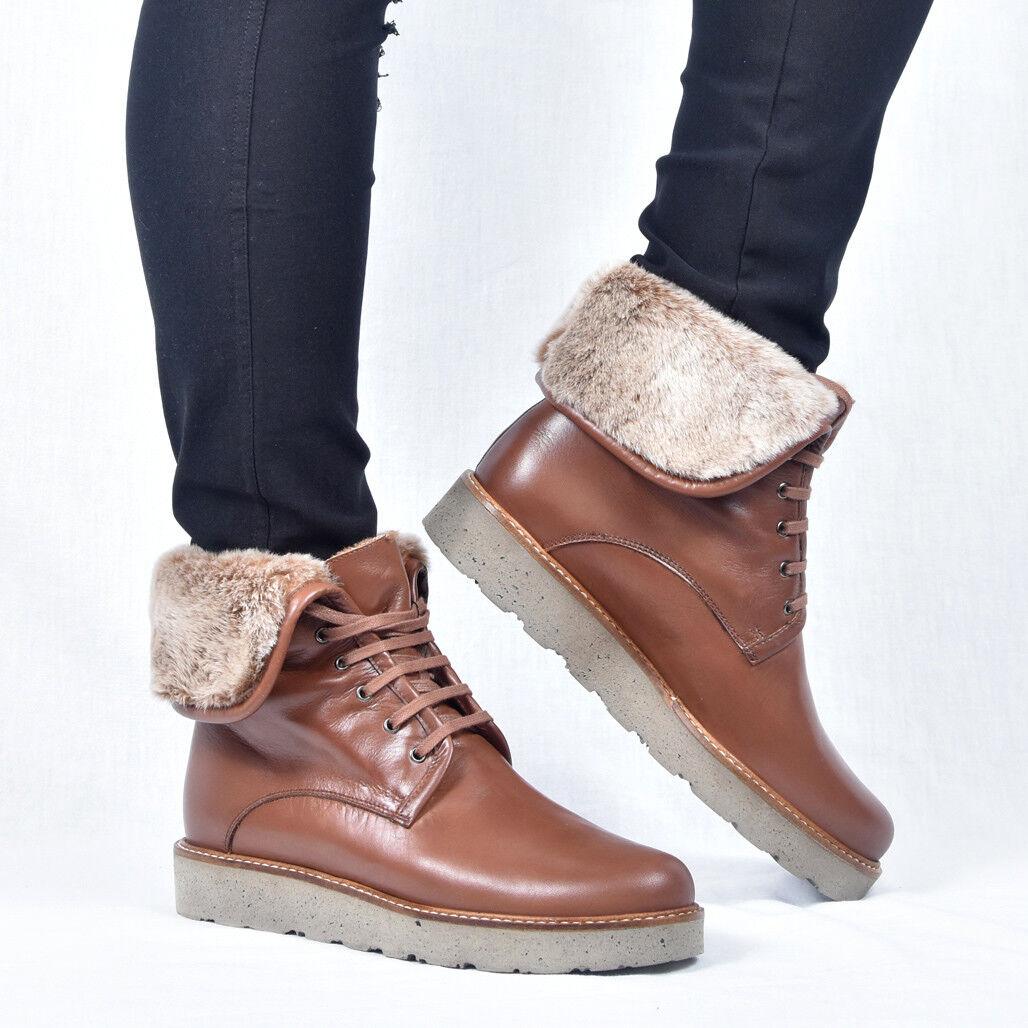Gadea Cuir Femmes Bottines Boots Booty Marron Nouveau 37 37 37 38 39 40   France  f17629