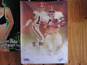 vintage-poster-BERNIE-KOSAR-Cleveland-Browns-EARNEST-BYNER-WJW-TV8-18-034-x-24-034-new