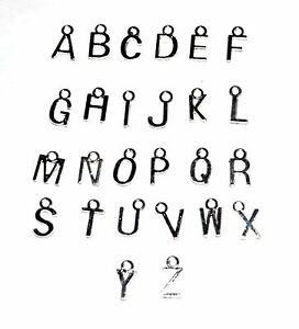 CHRISTMAS-CRAFTS-10-SILVER-PLATED-JEWELLERY-CRAFT-METAL-LETTER-ALPHABET-CHARMS