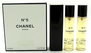 ea8d9cabf250 Chanel No. 5 Twist and Spray Eau de TOILETTE Purse Spray 3x20ml ...