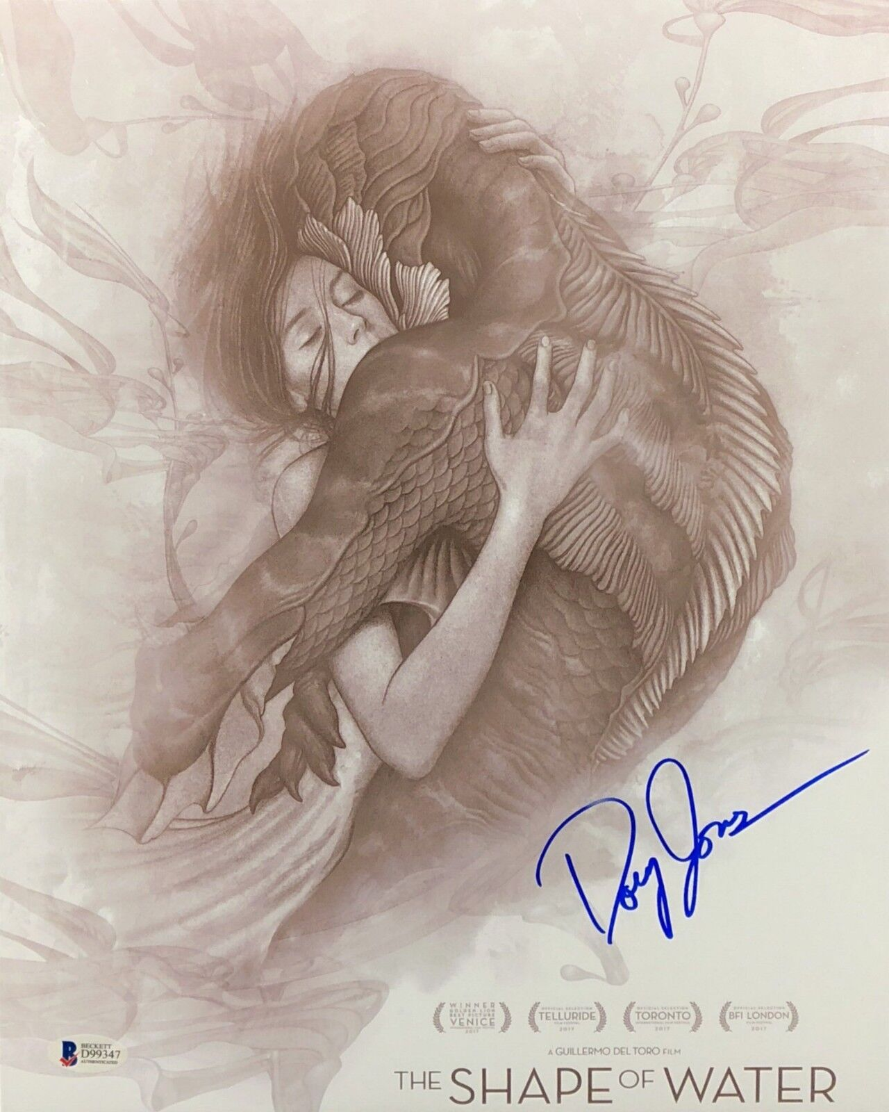 Doug Jones Signed 'The Shape Of Water' 11x14 Photo BAS Beckett D99347