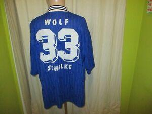 FC-Schalke-04-Adidas-Heim-Trikot-1996-97-034-Kaercher-034-Nr-33-Wolf-Gr-XXL-TOP