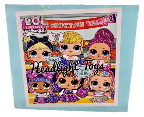 1 LOL Surprise Varsity Pups Cheer Team Doll Ball All Star BBs Series 2 In Hand