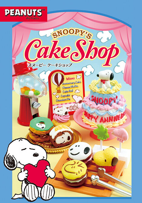 Re-Ment Miniature Peanuts Snoopy Dessert Cake Shop Full set of 8 pieces